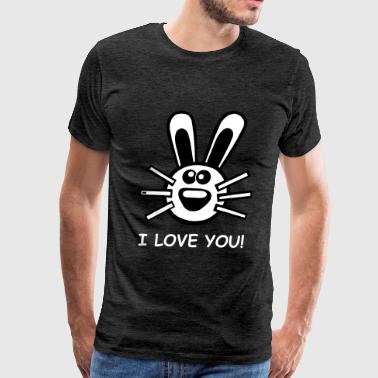 Bunny Hare I love you - Men's Premium T-Shirt