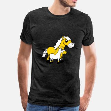 Fast Horses foal young child baby horse pony riding fast horse - Men's Premium T-Shirt