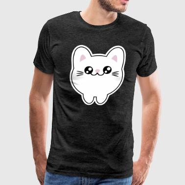 Cute Kawaii Anime Japan Style cat kitten - Men's Premium T-Shirt