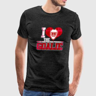 Hockey Goalie I Love Goalie Hockey - Men's Premium T-Shirt