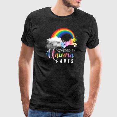 Rainbow Fart Powered By Unicorn Farts Funny T-Shirt Gift - Men's Premium T-Shirt