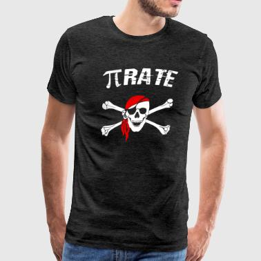 Funny Pi Pun Pi-rate Shirt Math Teacher Halloween Shirt - Men's Premium T-Shirt