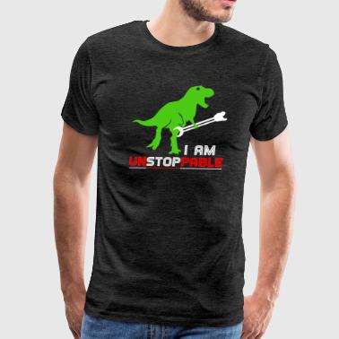 Unstoppable I Am Unstoppable T-Shirt for Dinosaur Fans - Men's Premium T-Shirt