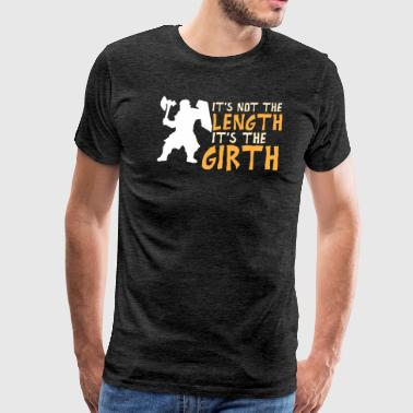 Fairy Tail Happy It's not the lergth it's the girth - Men's Premium T-Shirt