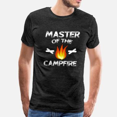 Scouting Master Of The Campfire Camping T-Shirt Gift - Men's Premium T-Shirt