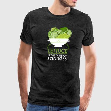 Protect The Planet Lettuce Tastes like Sadness T-Shirt for Vegans - Men's Premium T-Shirt