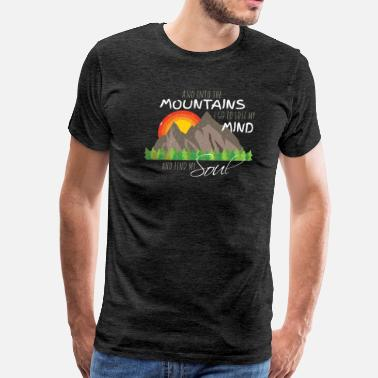 Trail Lose My Mind and Find My Soul Nature Hiking Tshirt - Men's Premium T-Shirt