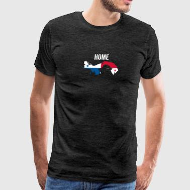 I Love La Panama Home Flag - Men's Premium T-Shirt