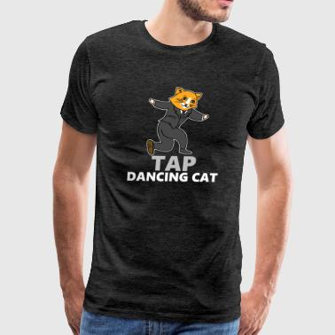 Music Major Tap Dancing Cat - Men's Premium T-Shirt