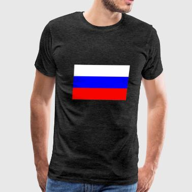 Russia Flag - Men's Premium T-Shirt