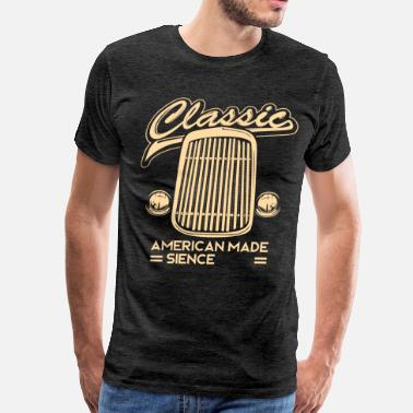 Birth Year 1974 classic vintage car grill birthday gift - Men's Premium T-Shirt