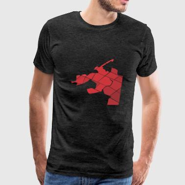 dog red - Men's Premium T-Shirt