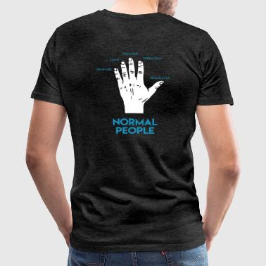 Gamers Hand Back T-Shirt - Men's Premium T-Shirt