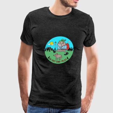 Go Out and Play by Cheslo - Men's Premium T-Shirt