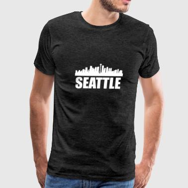Seattle WA Skyline - Men's Premium T-Shirt
