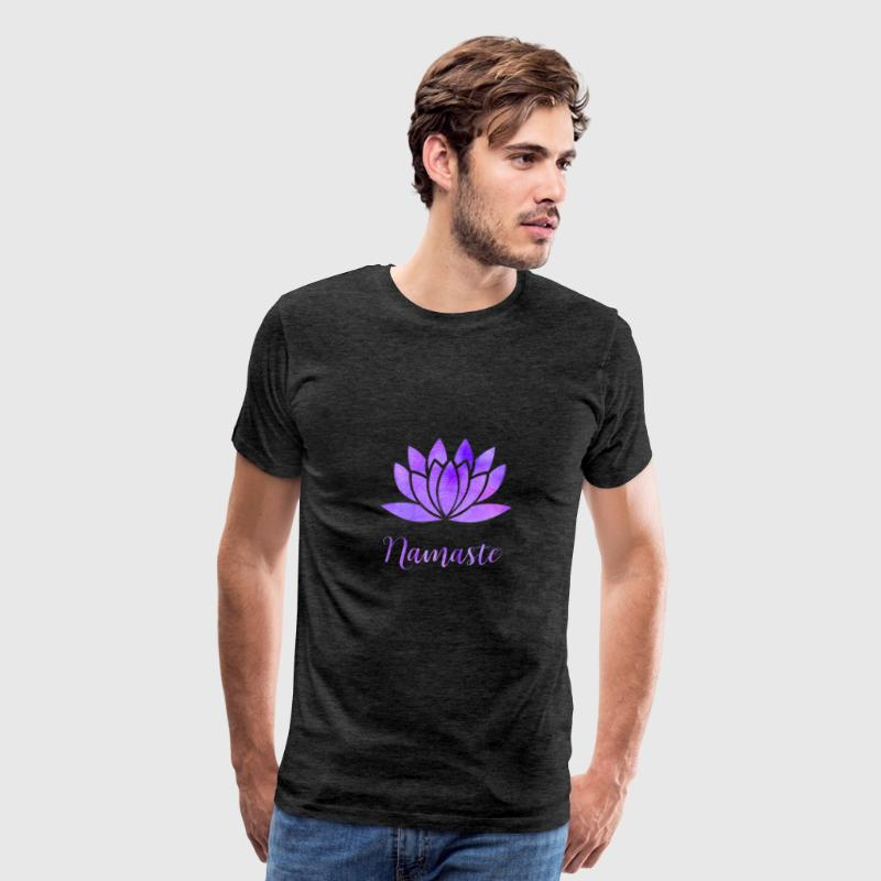 Namaste Lotus Flower - Men's Premium T-Shirt