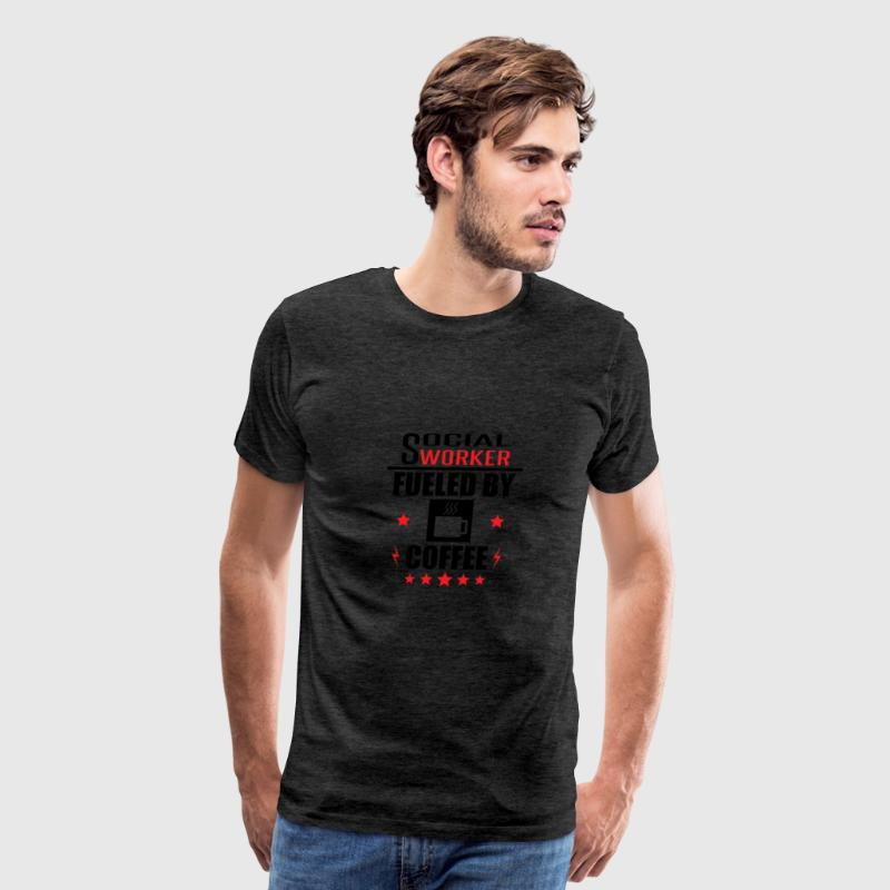 Social Worker Fueled By Coffee - Men's Premium T-Shirt