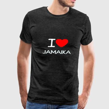 I LOVE JAMAIKA - Men's Premium T-Shirt
