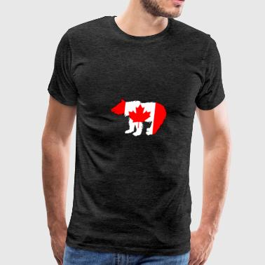 Canadian Flag - Bear Cub - Men's Premium T-Shirt