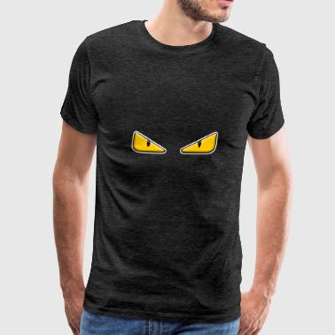 Zaheire x Fendi Monster Eye Design - Men's Premium T-Shirt