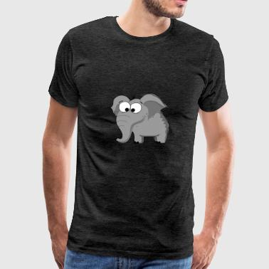 Cartoon Elephant - Men's Premium T-Shirt