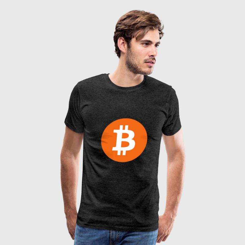 Bitcoin (BTC) logo - Men's Premium T-Shirt