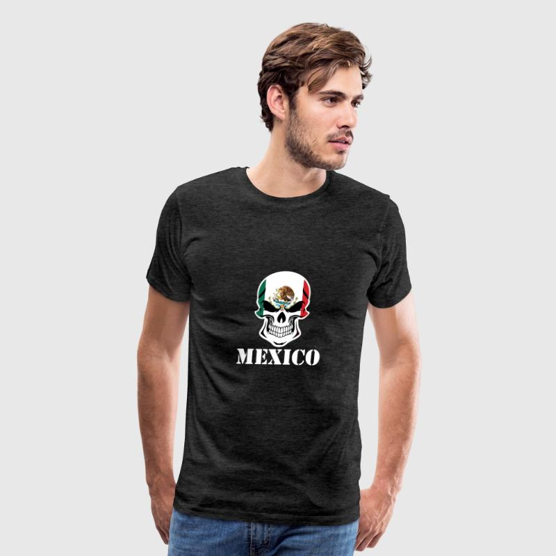 Mexican Flag Skull Mexico - Men's Premium T-Shirt