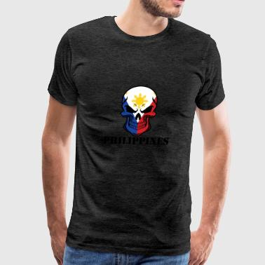 Filipino Flag Skull Philippines - Men's Premium T-Shirt