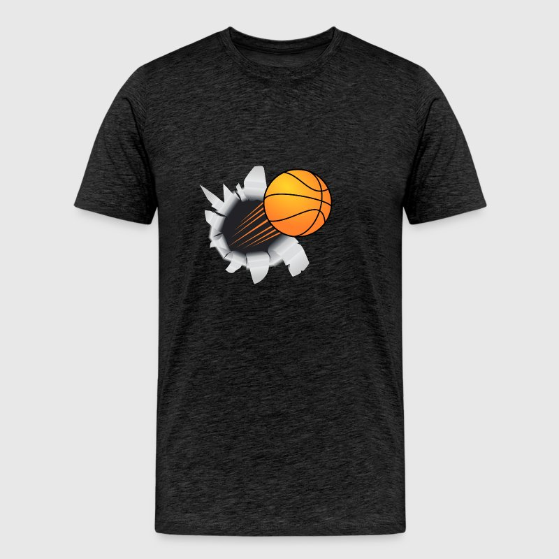 Basketball Flying Out Of Hole - Men's Premium T-Shirt
