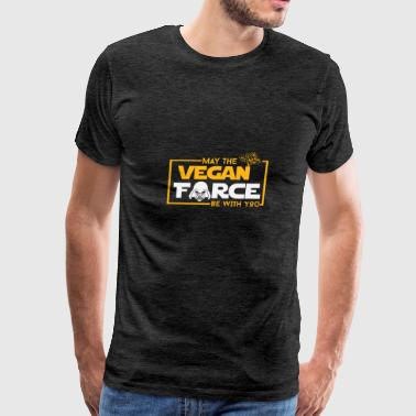May the vegan force be with you - Men's Premium T-Shirt
