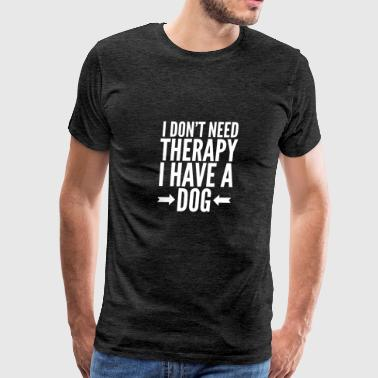 Dog therapy - Men's Premium T-Shirt