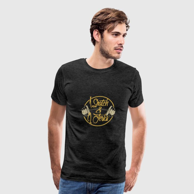 1 Snatch and 2 Jerks - Men's Premium T-Shirt