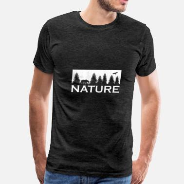 Hunting Club nature forest wilderness hunting hunter tree gift - Men's Premium T-Shirt