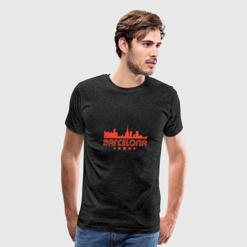 Retro Barcelona Skyline - Men's Premium T-Shirt