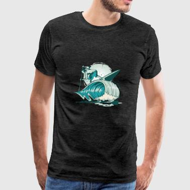 Surfer sea wave - Men's Premium T-Shirt