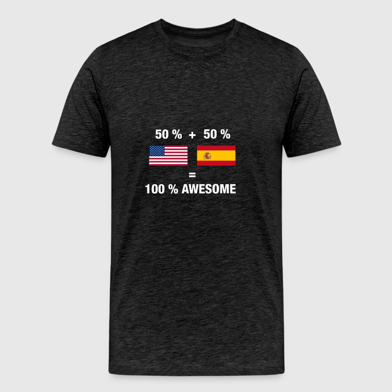 Half Spanish Half American 100% Spain Flag - Men's Premium T-Shirt