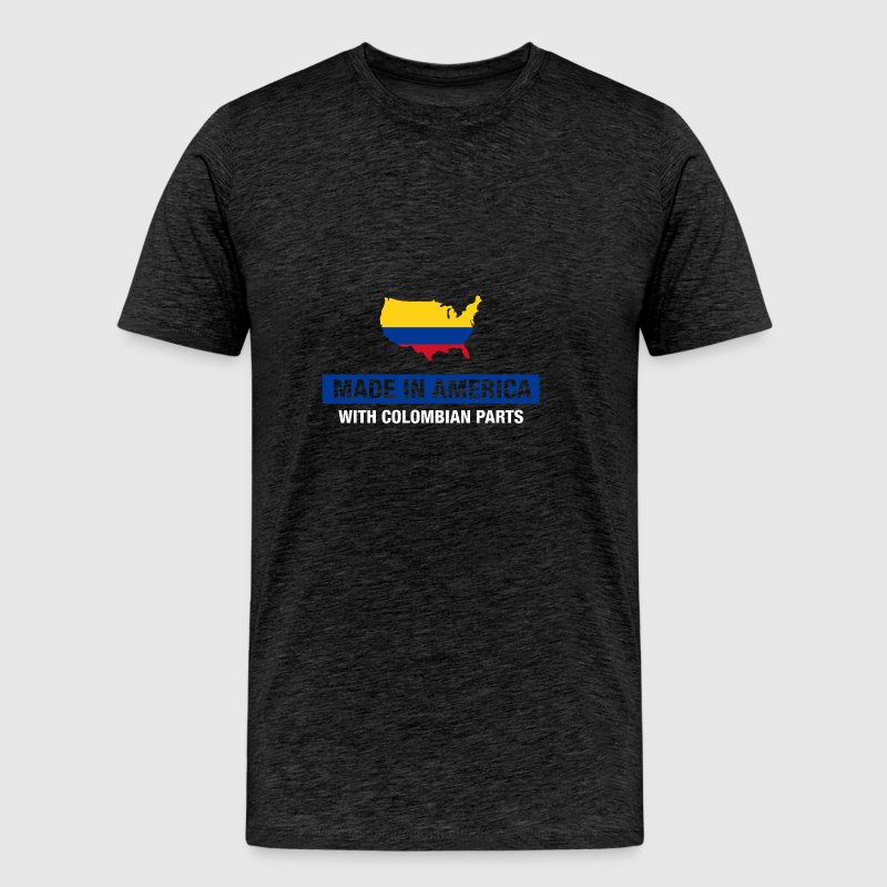 Made In America With Colombian Parts Colombia Flag - Men's Premium T-Shirt