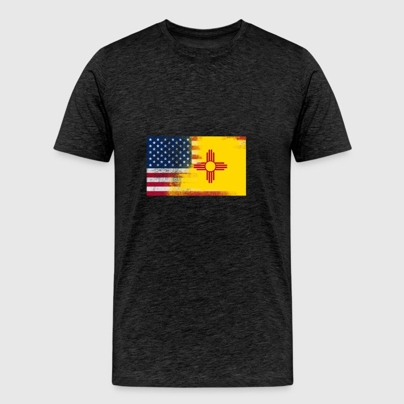 New Mexico American Flag Fusion - Men's Premium T-Shirt
