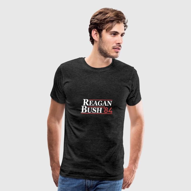 Vintage 80s Reagan Bush 84 Republican Political - Men's Premium T-Shirt