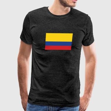 Flag of Colombia Cool Colombian Flag - Men's Premium T-Shirt