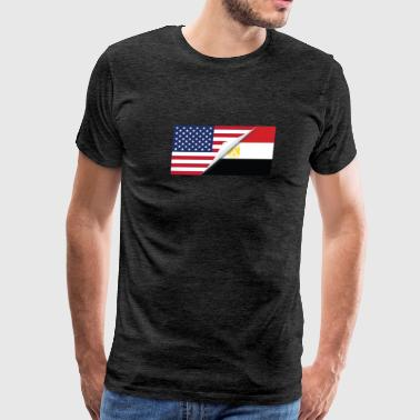 Half American Half Egyptian Flag - Men's Premium T-Shirt