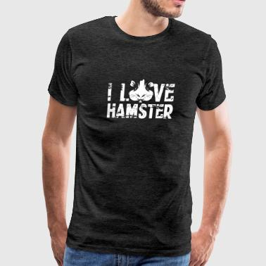 I Love Hamsters Shirts - Men's Premium T-Shirt