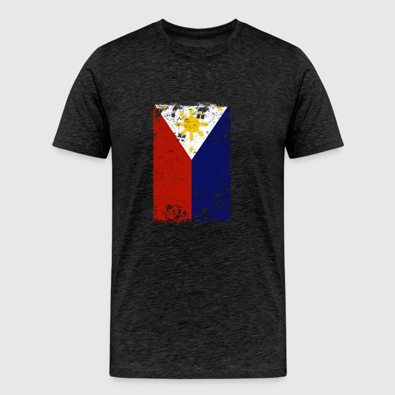 Filipino Vintage Distressed Philippines Flag - Men's Premium T-Shirt