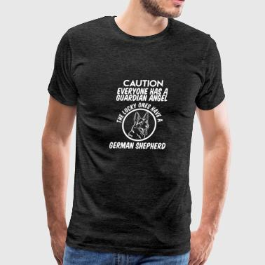CAUTION EVERYONE HAS A GUARDIAN ANGEL THE LUCKY ON - Men's Premium T-Shirt