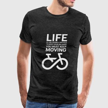 Einstein Quote BIKE white - Men's Premium T-Shirt