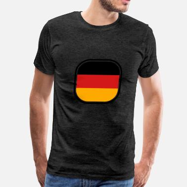 Red & Gold Nation button 3 colors germany nation black red gold flag - Men's Premium T-Shirt