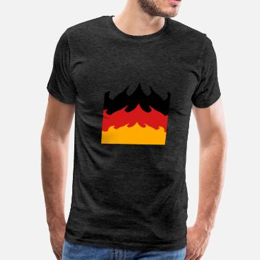 Art-design-big-tall big area flames fire burning hot 3 colors germany  - Men's Premium T-Shirt