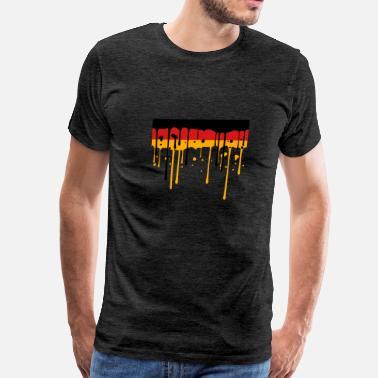 Red & Gold Nation blob graffiti drops germany nation black red gold  - Men's Premium T-Shirt