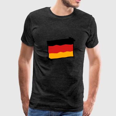 paper note glued Germany nation black red gold fla - Men's Premium T-Shirt