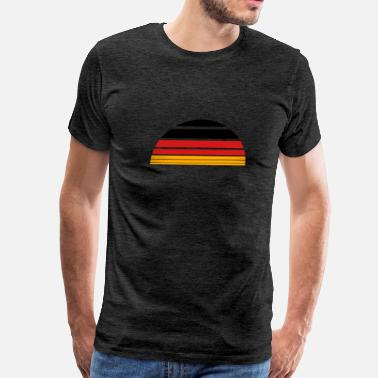 Red & Gold Nation sunrise sun 3 colors germany nation black red gold - Men's Premium T-Shirt